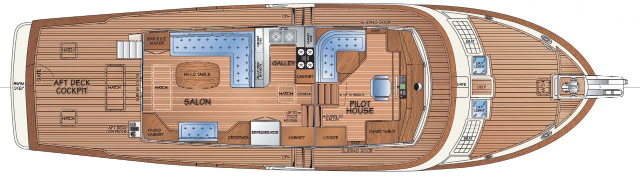 Main deck - salon option w/STBD Settee
