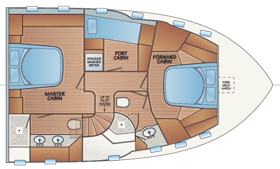 Accommodation - option F w/pilothouse access