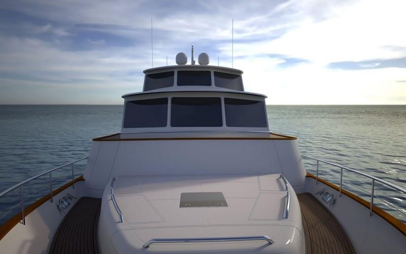 Forward deck looking aft