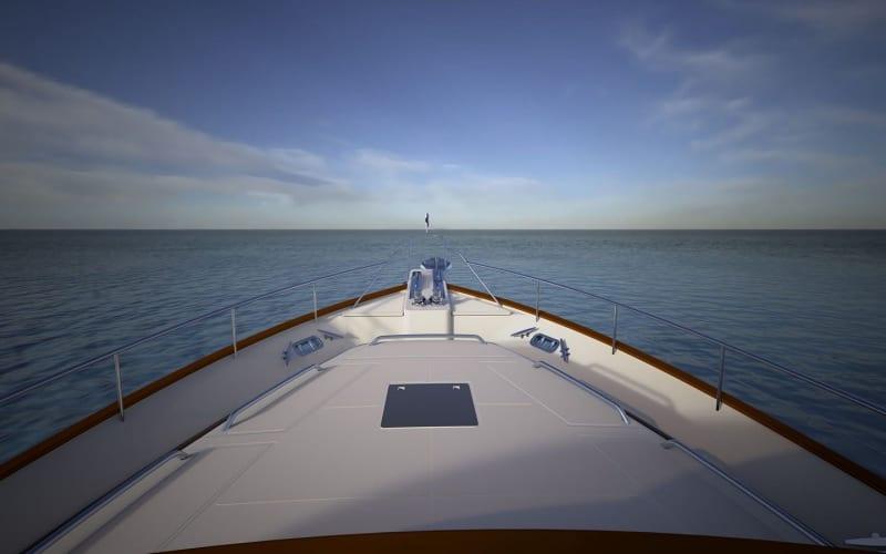 Forward deck looking forward