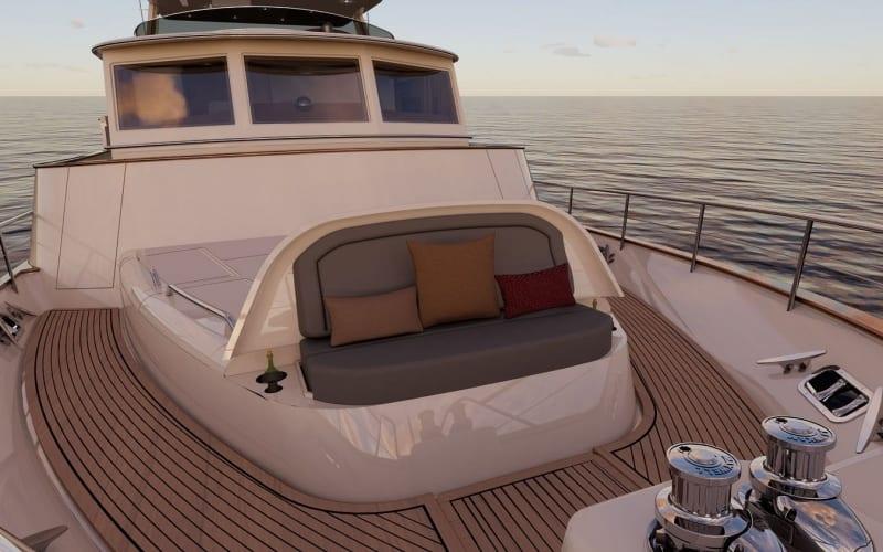 Forward deck seat
